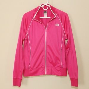 The North Face Full Zip Up Jacket Pink Size XL